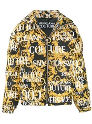 Versace Jeans Couture Zipped Logo Padded Jacket Black