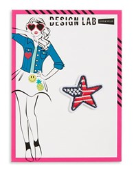 Design Lab Lord And Taylor American Star Patch Multi
