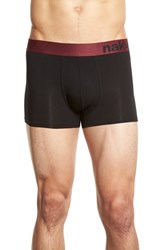 Men's Naked Tencel Blend Trunks Black Zinfandel