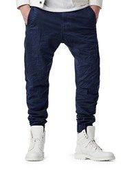G Star Bronson Zip Tapered And Cuffed Chino Pants Blue