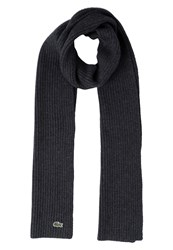 Lacoste Scarf Dark Gray Mottled Anthracite