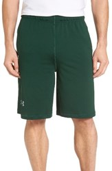Under Armour Men's 'Raid' Heatgear Loose Fit Athletic Shorts Forest Green Steel