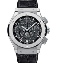 Hublot 525.Nx.0170.Lr Classic Fusion Leather Watch Stainless Steel