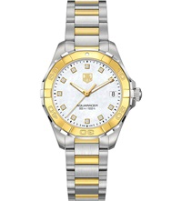 Tag Heuer Way1351bd0917 Aquaracer Steel Diamond And 18Ct Gold Watch Pearl