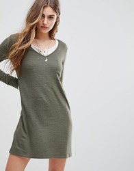Abercrombie And Fitch Cosy Dress Olive Green