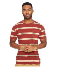 Brixton Hilt Washed Short Sleeve Pocket Knit Burgundy Men's Short Sleeve Knit