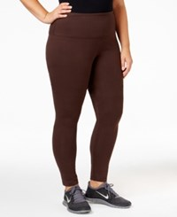 Styleandco. Style Co. Sport Plus Size Tummy Control Leggings Only At Macy's Espresso Bean