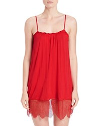 Joe's Jeans Lace Accented Chemise Poinsettia