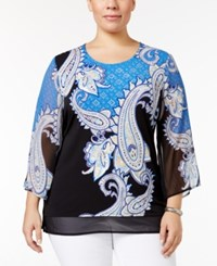Jm Collection Plus Size Embellished Chiffon Hem Top Only At Macy's Summer Paisley