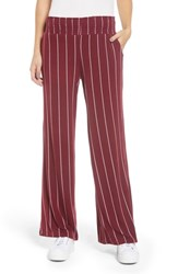 Love Fire Stripe Knit Wide Leg Pants Zinfandel