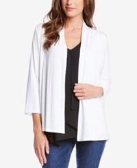 Karen Kane Molly Open Front Cardigan A Macy's Exclusive Style Off White