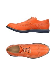 Gold Brothers Lace Up Shoes Orange