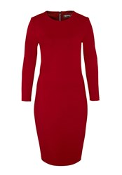 Hallhuber Jersey Shift Dress Red