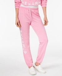 Jessica Simpson The Warm Up Burnout French Terry Joggers Pretty Pansy
