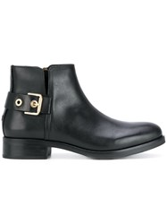 Tommy Hilfiger Ankle Boots Cotton Calf Leather Rubber Black