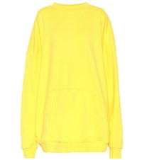 Y Project Oversized Cotton Hoodie Yellow