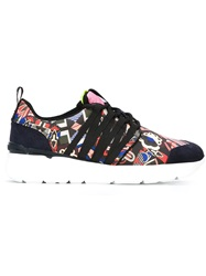 Msgm Abstract Print Sneakers Black