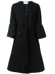 Antonio Berardi Hook Detail Coat Black