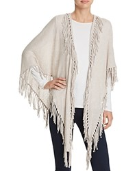 Minnie Rose Fringe Trim Shawl White
