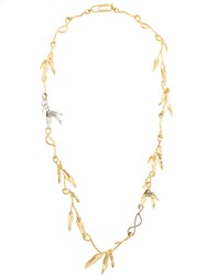 Aurelie Bidermann Mimosa Sautoir Necklace Gold Plated Brass Metallic