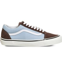 Vans Old Skool 38 Dx Canvas And Suede Trainers Brown Light Blue