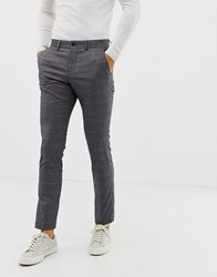 Lindbergh Suit Trousers In Grey Check