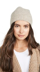 Janessa Leone Alpaca Piper Beanie Light Brown