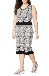 Rachel Roy Plus Size Women's Fitted Jacquard Sweater