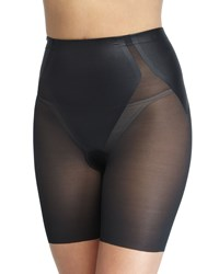 Spanx Haute Contour Sheer Mid Thigh Shaper Shorts Soft Sand