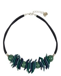 Jaeger Erica Geo Shapes Necklace Blue
