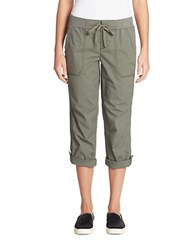 Lord And Taylor Solid Linen Cargo Pants Rio Grn Vr