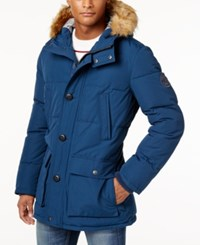 Tommy Hilfiger Long Snorkel Coat Dress Blue