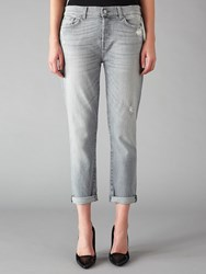 7 For All Mankind Josefina Boyfriend Jeans Cool Grey