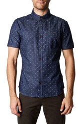 7 Diamonds Stay Human Trim Fit Sport Shirt Navy