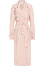 Tibi Woman Oversized Double Breasted Shell Trench Coat Blush