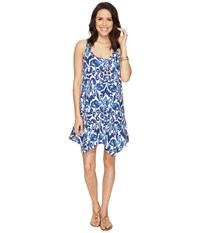 Lilly Pulitzer Hampton Dress Resort Navy Beach Bathers Women's Dress Blue