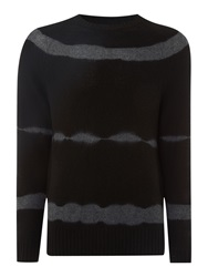 Label Lab Grenelle Tie Dye Crew Neck Jumper Black