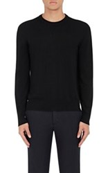 Piattelli Men's Merino Wool Crewneck Sweater Black