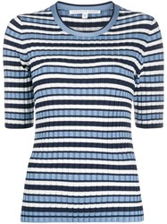 Veronica Beard Striped Ribbed Top 60