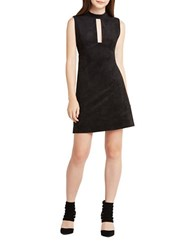 Bcbgeneration Faux Suede Sleeveless Shift Dress Black