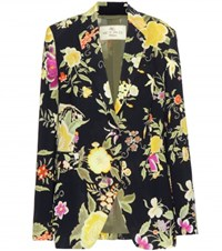 Etro Floral Printed Crepe Blazer Multicoloured