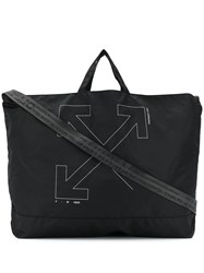 Off White Unfinished Arrows Tote Black