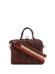 Ulla Johnson Structured Woven Tote Brown