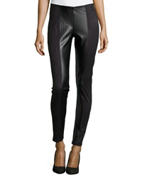 Dex Faux Suede And Leather Leggings Black