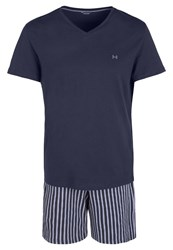 Hom Paul Pyjama Set Navy Dark Blue