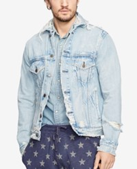 Denim And Supply Ralph Lauren Denim Trucker Jacket Blue