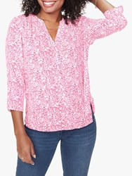 Nydj The Perfect Blouse Windsor Floral