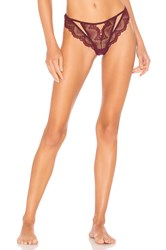 Thistle And Spire Kane Cutout Thong Burgundy