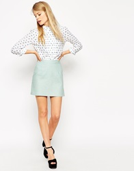 Asos A Line Linen Mini Skirt Mint