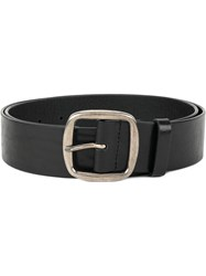 Dsquared2 Square Ring Buckle Belt Leather Black
